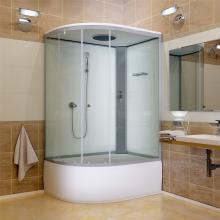 белая душевая кабина внутри ванной комнаты
